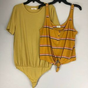 Abound & Elodie Blouse Bodysuit Lot of 2 XL